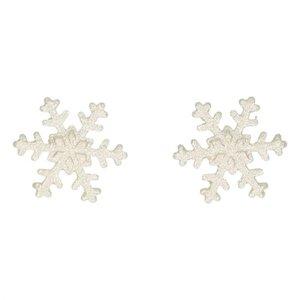Decoratie sneeuwvlokken zilver set/6