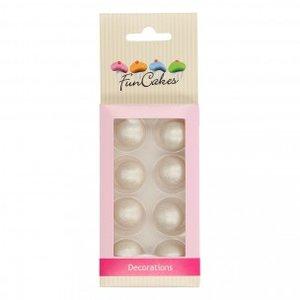 FunCakes Pearl Choco Balls Silver Set/8
