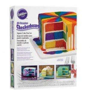 Wilton Checkerboard Square Cake Set