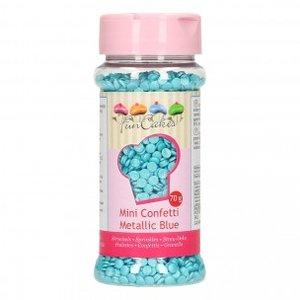 FunCakes Confetti Metallic Blauw 70g