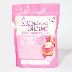 Sugar and Crumbs Icing Sugar Strawberry Milkshake 500g