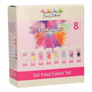 FunCakes Edible FunColours Gel Set/8