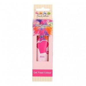 FunCakes Edible FunColours Gel  Pink 30g