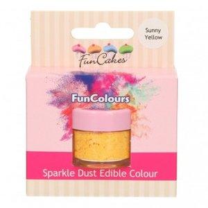 FunCakes Edible FunColours Sparkle Dust  Sunny Yellow