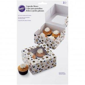 Wilton Cupcake Box Stars pk/3