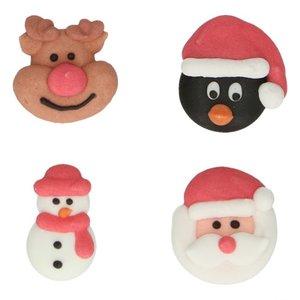 Funcakes suikerdecoratie kerstmis 8 stuks