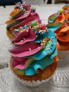 Cupcakes met sprinkles