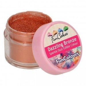 FunCakes Edible FunColours Sparkle Dust  Dazzling Bronze