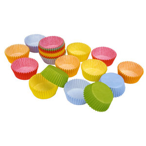 Gekleurde baking cups mini