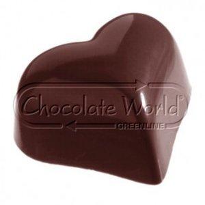 CW Polycarbonaat Chocolade Vorm Hart